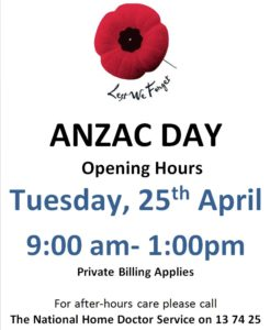 Anzac Day Post 2017