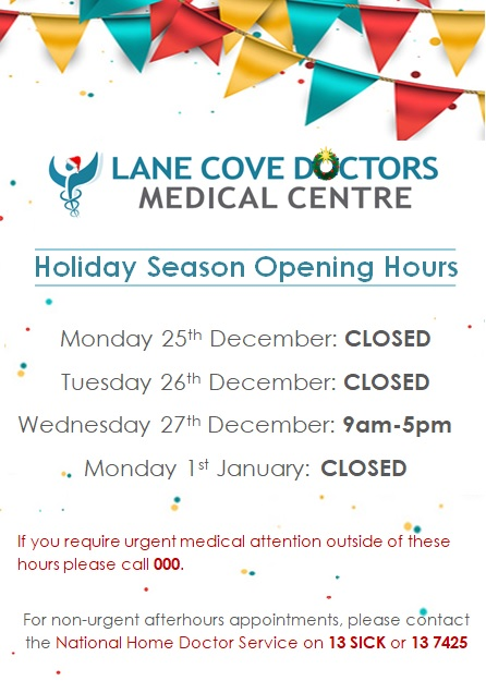 Holiday Hours 2017 website